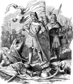 Kirchhoff, Johann Jakob - Rudolph I on batllefield after the victory over Ottokar (Illustration from the Geschichte des deutschen Volkes by E. Duller)