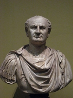 Art of Ancient Rome, Classical sculpture - Bust of Vespasian (After original in Louvre)