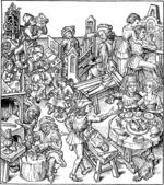 Master of the Housebook - Mercury and His Children. Illustration from the Housebook