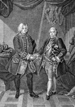 Wolff, Ulrich Ludwig Friedrich - The Fraternization of Kings Frederick I of Prussia and Augustus II of Poland