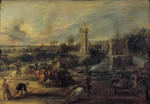 Rubens, Pieter Paul - Tournament in front of Castle Steen