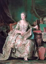 La Tour, Maurice Quentin de - Full-length portrait of the Marquise de Pompadour (1721-1764)