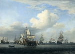 Velde, Willem van de, the Younger - The captured Swiftsure, Seven Oaks, Loyal George and Convertine brought through Goeree Gat, 16 June 1666