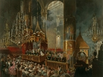 Zichy, Mihály - Coronation of Alexander II in the Dormition Cathedral of the Moscow Kremlin on 26 August 1856