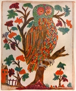 Russian master - The owl (Lubok)