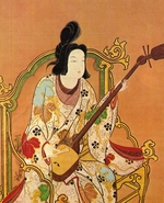 Anonymous - A Girl Playing a Shamisen