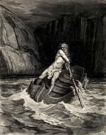 Doré, Gustave - Arrival of Charon. Illustration to the Divine Comedy by Dante Alighieri