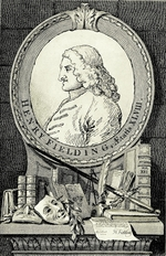 Hogarth, William - Portrait of the novelist and playwright Henry Fielding (1707-1754)