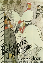 Toulouse-Lautrec, Henri, de - Poster to the Book Babylone d'Allemagne by Victor Joze