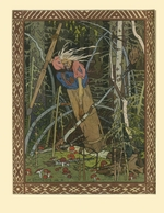 Bilibin, Ivan Yakovlevich - Baba Yaga (Illustration to the book Vasilisa the Beautiful)