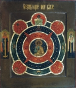 Russian icon - The All-Seeing Eye of God