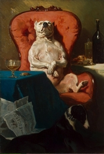 De Dreux, Alfred - Pug Dog in an Armchair