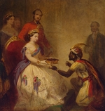 Barker, Thomas Jones - Queen Victoria Giving the Bible to an African Chief