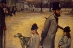 Degas, Edgar - Place de la Concorde (Viscount Lepic and his Daughters Crossing the Place de la Concorde)