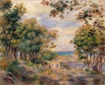 Renoir, Pierre Auguste - Landscape at Beaulieu