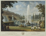 Chesky (Cheskoy), Ivan Vasilievich - View of the Great Cascade, Samson Fountain and Great Palace at Peterhof
