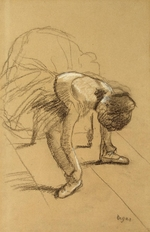Degas, Edgar - Seated Dancer Adiusting her Shoes