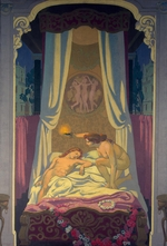 Denis, Maurice - The Story of Psyche (Panel 3. Psyche Discovers that Her Mysterious Lover is Eros)