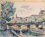 Signac, Paul - Bank of the Seine Near the Pont des Arts with a View of the Louvre