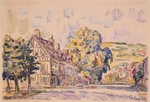 Signac, Paul - Street with a Frame House in Normandy