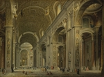 Pannini (Panini), Giovanni Paolo - Interior of the Basilica of Saint Peter in Rome