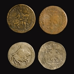 Numismatic, Russian coins - Poltina and Ruble of 1654