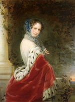 Robertson, Christina - Portrait of Empress Alexandra Fyodorovna (Charlotte of Prussia), Emperor's Nicholas I wife (1798-1860)