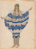 Bakst, Léon - Nymph. Costume design for the ballet The Afternoon of a Faun by C. Debussy