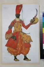 Bakst, Léon - Eunuch. Costume design for the ballet Scheharazade by N. Rimsky-Korsakov