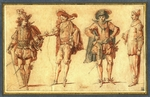 Gillot, Claude - Four Commedia dell'arte Figures