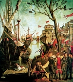 Carpaccio, Vittore - Arrival of Saint Ursula in Cologne During the Siege by the Huns (The Legend of Saint Ursula)