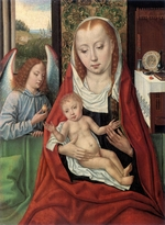 Master of the legend of St. Ursula - Madonna and Child with Angel