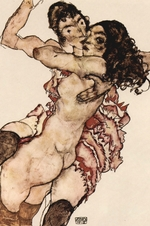 Schiele, Egon - Pair of Women (Women embracing each other)