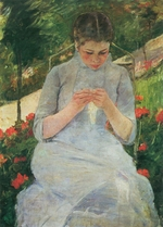 Cassatt, Mary - Young Woman Sewing in the Garden