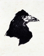 Manet, Édouard - Le Corbeau (The Raven) Illustration for the poem The Raven by Edgar Allan Poe