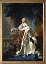 Callet, Antoine-François - Portrait of the King Louis XVI (1754-1793) in his Coronation Robes