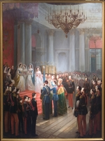 Willewalde, Gottfried (Bogdan Pavlovich) - The Coronation Oath of Tsarevich Nicholas Alexandrovich of Russia on September 8, 1859