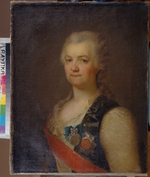 Levitsky, Dmitri Grigorievich - Portrait of the Princess Yekaterina R. Vorontsova-Dashkova (1744-1810), the first  President of the Russian Academy of Sciences