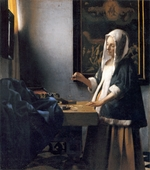 Vermeer, Jan (Johannes) - Woman Holding a Balance (Woman Weighing Pearls)
