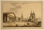 Vorobyev, Maxim Nikiphorovich - View of Manege, Kutafya Tower and Church of Saint Nicholas in Moscow