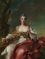 Nattier, Jean-Marc - Madame de Maison-Rouge as Diana
