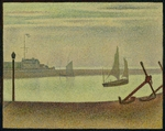 Seurat, Georges Pierre - The Channel at Gravelines, Evening