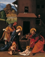 Mazzolino, Ludovico - The Nativity with the Annunciation to the Shepherds