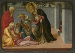 Lippi, Fra Filippo - Saint Zeno exorcising the Daughter of Gallienus (from The Pistoia Santa Trinità Altarpiece)