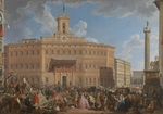 Pannini (Panini), Giovanni Paolo - The Lottery in Piazza di Montecitorio