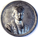 Gass, Johann Balthasar - Grand Prince Sviatoslav II of Kiev (from the Historical Medal Series)