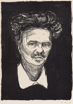 Munch, Edvard - The Author August Strindberg (1849-1912)