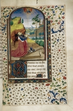 Anonymous - King David in prayer (Book of Hours)