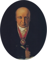 Tikhanov, Michail - Portrait of Alexander Baranov, chief of the Russian-American Company, first governor of Russian Alaska