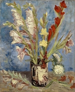 Gogh, Vincent, van - Vase with gladioli and China asters
